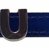 Collar Fashion Cuero Azul Metalizado - personalizados con nombre.