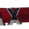 Collar Fashion Cuero Rojo Metalizado - personalizados con nombre.