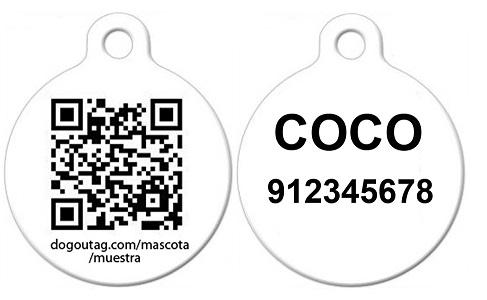 Placa Código QR / Nombre y Teléfono